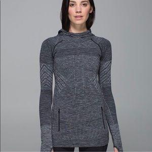 lululemon rest less hoodie grey size 6